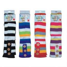 144 Units of Winter Leg Warmer Stripes - Womens Leg Warmers