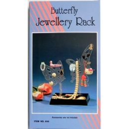 144 Units of Butterfly Jewelry Rack - Jewelry Box
