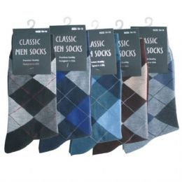 120 Units of Mens Argyle Dress Sock - Mens Dress Sock