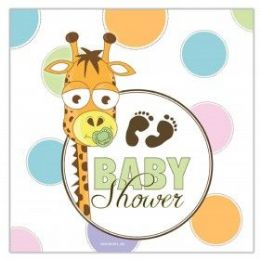 144 Units of Baby Shower Lunch Napkin 16 Ct. - Napkin and Paper Towel Holders