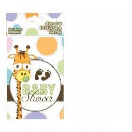 144 Units of Baby Shower Invitation 8 Ct. - Invitations & Cards