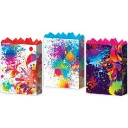 144 Units of Gift-Bag Jumbo Girls Splash Mania 3 Styles - Gift Bags Assorted