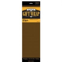 144 Units of Tissue Paper Brown 10 Sheets - Table Cloth