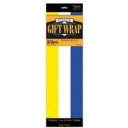 144 Units of Tissue Paper Yel/Whi/Blue 10 Shetts - Table Cloth
