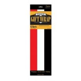 144 Units of Tissue Paper Red/Whi/Blk 6 Shetts - Table Cloth