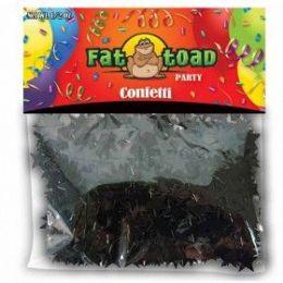 432 Units of Confetti Black Stars 1/2 oz - Streamers & Confetti
