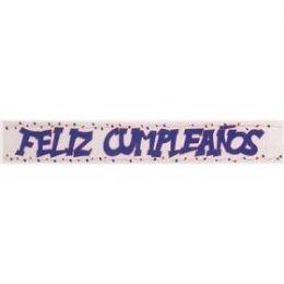 240 Units of Mylar Banner Feliz Cumpleanos 4x72 - Party Banners