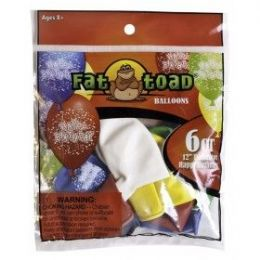 """144 Units of Fat Toad 6CT 12"""" B-Day Confetti - Balloons & Balloon Holder"""