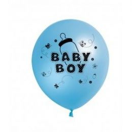 "40 Units of Fat Toad 72CT 12"" Baby Boy - Balloons & Balloon Holder"
