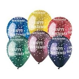 "20 Units of 50CT 12"" Deco AA Crystll B-day Star - Balloons & Balloon Holder"