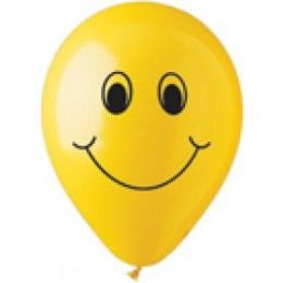 "40 Units of 50CT 12"" Deco SS Smiley Face - Balloons & Balloon Holder"