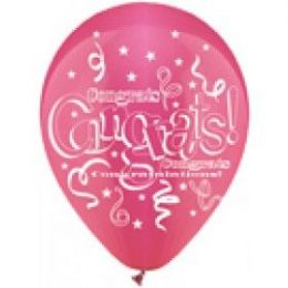 "40 Units of 50CT 12"" Deco SS Congrats! - Balloons & Balloon Holder"