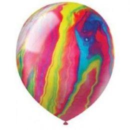 "20 Units of 72CT 12"" Agate Vgirtd Swirl Asst - Balloons & Balloon Holder"