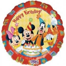 "100 Units of Mylar 18"" LC-Happy Birthday Mickey & Friends"