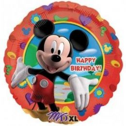 "100 Units of Mylar 18"" PKG LC-Happy Birthday Mickey's Clubhouse - Balloons & Balloon Holder"
