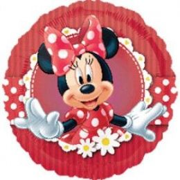 100 Units of AG 18 LC Mad About Minnie - Balloons & Balloon Holder