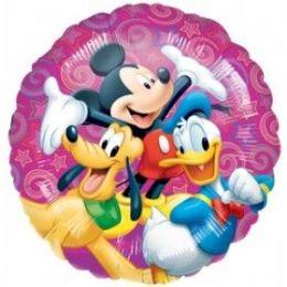 "100 Units of Mylar 18"" PKG LC-Disney Celebration Pkg - Balloons & Balloon Holder"