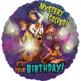 100 Units of AG 18 LC Scooby Birthday - Balloons & Balloon Holder