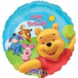 100 Units of AG 18 Pkg LC BD Pooh/Frds Sunny - Balloons & Balloon Holder