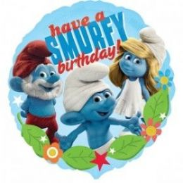100 Units of AG 18 LC Smurfs H B-Day - Balloons & Balloon Holder