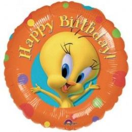 100 Units of AG 18 LC H B-Day Tweety Spots - Balloons/Balloon Holder