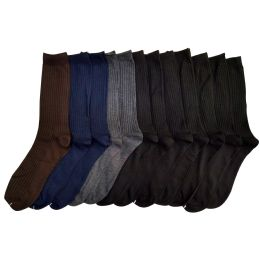 120 Units of Men's Dress Sock In Assorted Colors - Mens Dress Sock