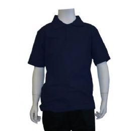 12 Units of Boys School Uniform Polo Shirt - Boys School Uniforms