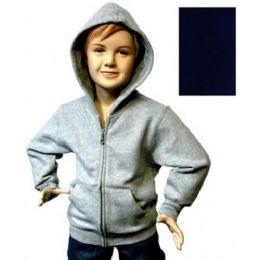 12 Units of Boys 4-7 Full-Zip Hooded Fleece - Boys Sweaters
