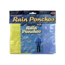 72 Units of Emergency Rain Ponchos - Umbrellas & Rain Gear