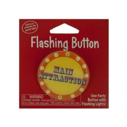 144 Units of Flashing Button 199930 - Party Novelties