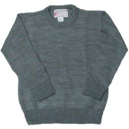 16 Units of School Crew Neck Pull Over Sweater Grey Color Only - Boys School Uniforms