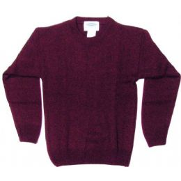 21 Units of Adult Pull Over Sweater Burgundy Only - Boys School Uniforms