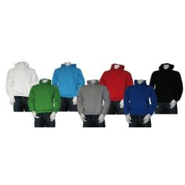 24 Units of Men's Pull Over Hooded Fleece - Mens Sweat Shirt