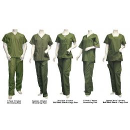 26 Units of 2 Pc Set Scrub Set Olive Only - Nursing Scrubs