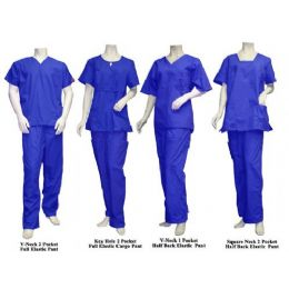 16 Units of 2 Pc Set Scrub Set Royal Blue Only - Nursing Scrubs