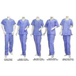 25 Units of 2 Pc Set Scrub Set Light Blue Only - Nursing Scrubs