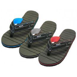 "36 Units of Men's ""Real"" Sport Fabric Thong Sandal - Men's Flip Flops and Sandals"