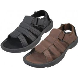 24 Units of Men's Velcro Sandal - Men's Flip Flops and Sandals