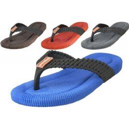 36 Units of Men's Sport Flip Flops - Men's Flip Flops and Sandals
