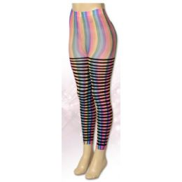 36 Units of One Size Women Rainbow Leggings - Womens Leggings