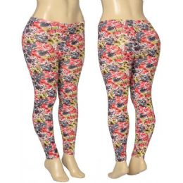 36 Units of Ladies Floral Leggings - Womens Leggings