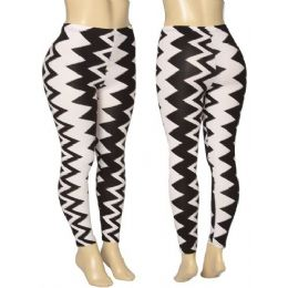36 Units of Ladies Zig Zag Leggings - Womens Leggings