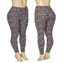 36 Units of Ladies Cheetah Print Leggings - Womens Leggings