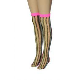 36 Units of Ladies Knee High Neon Colors - Womens Knee Highs