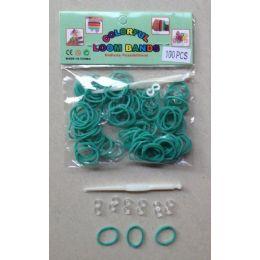 144 Units of 100pk Loom Bands [AQUA] - Bracelets