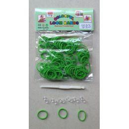 144 Units of 100pk Loom Bands [lime] - Bracelets