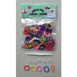 144 Units of 100pk Loom Bands [multicolor] - Bracelets