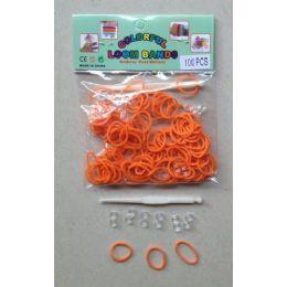 144 Units of 100pk Loom Bands [orange] - Bracelets