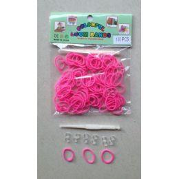 144 Units of 100pk Loom Bands [pink] - Bracelets