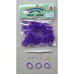 144 Units of 100pk Loom Bands [purple] - Bracelets